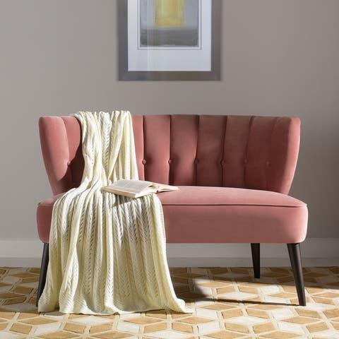 Jennifer Taylor Home Becca Channel Tufted Settee