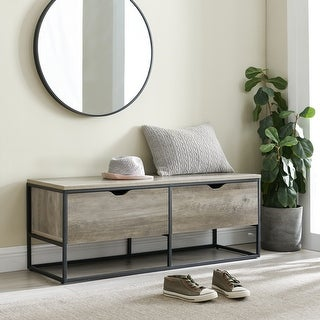 Link to Carbon Loft 48-inch 2-Drawer Metal Base Entry Bench Similar Items in Living Room Furniture