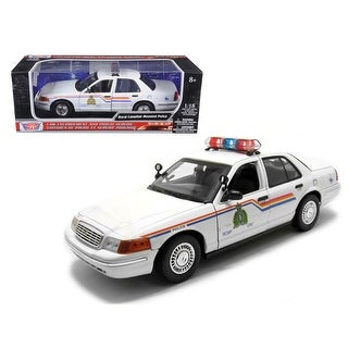 2001 Ford Crown Victoria Royal Canadian Mounted Police Car 1/18 Diecast Car Model by Motormax