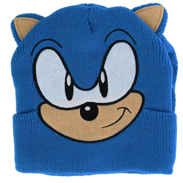 ce50849d2f74e Shop BioWorld Sonic Full Face Beanie Cuff Cap with 3D Ears and ...
