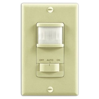 Heath Zenith SL-6115-IV Motion-Activated Wall Light Switch with Adjustable Timer