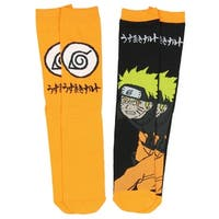 Anime Naruto Shippuden Unisex 2 Pair Crew Cut Socks Cosplay One Size