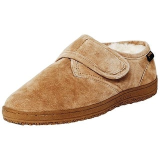 Old Friend Slippers Mens Sheepskin Adjustable Bootee Chestnut 421197