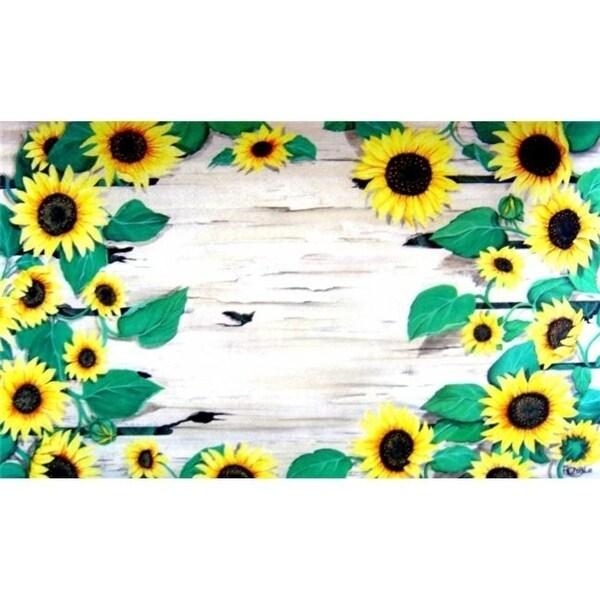 Custom Printed Rugs DM 40 Sunflower Door Mat
