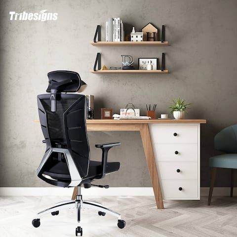 Ergonomic Office Chair, High Back Desk Chair with Lumbar Support - N/A