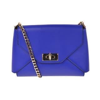 ab408b1fadd Givenchy Royal Blue Leather Shark Lock Medium Envelope Shoulder Bag