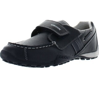 Geox Boys Jr Snake Moc Dress Casual Loafers Shoes - Navy/Grey