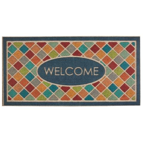Mohawk Home Crosshatch Tile Entryway Door Mat - 2' x 4'