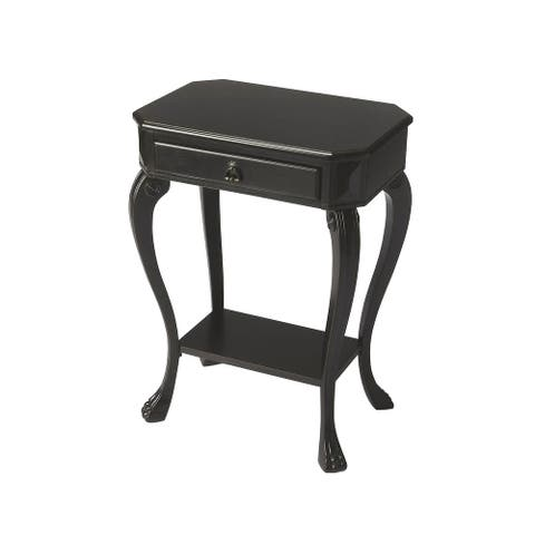Channing Traditional Black Licorice Wooden Console Table - Black