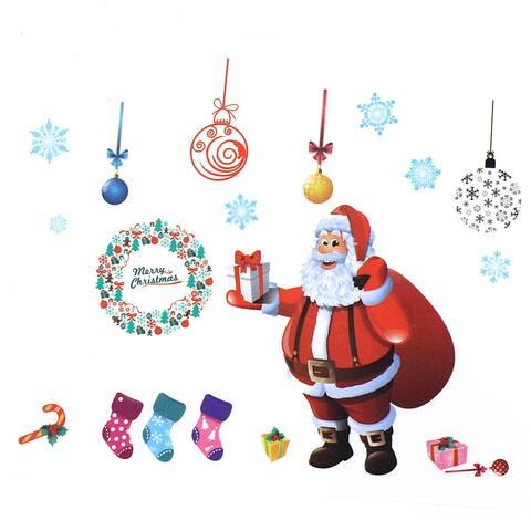 Unique Bargains Christmas Santa Removable Home Wallpaper Wall Decor Sticker