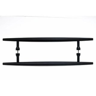 Top Knobs M852-18pair Nouveau Collection 18 Inch Center to Center Flat Black Back to Back Door Pull Pair