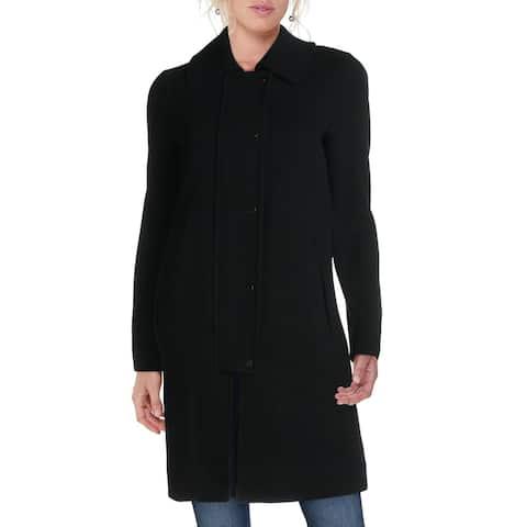 Andrew Marc Womens Shiloh Walker Coat Wool Dressy - Black