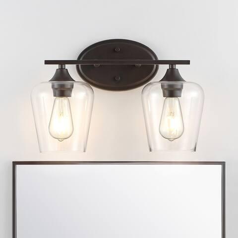 Jayne Iron/Glass Cottage LED Vanity Light, Orb by JONATHAN Y