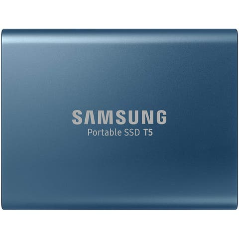 SAMSUNG T5 Portable SSD 500GB - Up to 540MB/s - USB 3.1 External Solid State Drive, Blue (MU-PA500BAM)