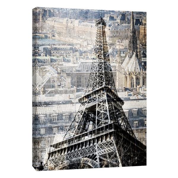 "PTM Images 9-109028 PTM Canvas Collection 10"" x 8"" - ""Paris"" Giclee Eiffel Tower Art Print on Canvas"