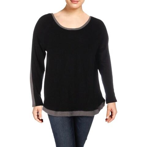 Derek Heart Womens Plus Pullover Sweater Criss-Cross Back Long Sleeves - 1X
