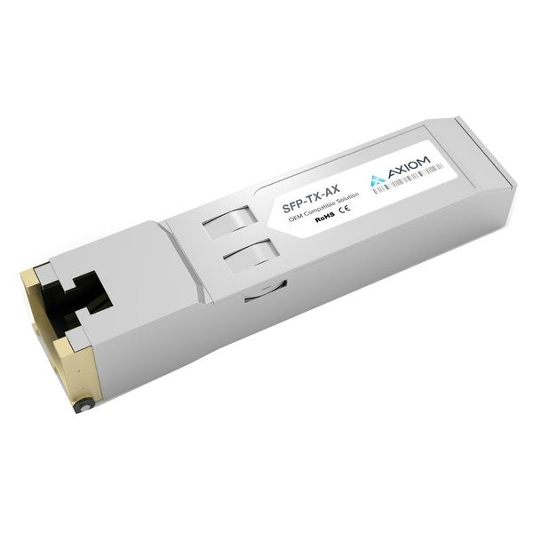 Axion SFP-TX-AX Axiom 1000BASE-T SFP for Aruba - For Data Networking - 1 x 1000Base-T - 128 MB/s Gigabit Ethernet1 Gbit/s