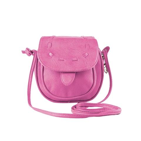 Women Mini Woven Crossbody Saddle Bags