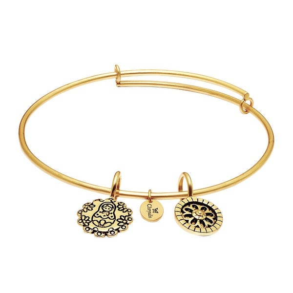 Chrysalis 'Mother Doll' Expandable Bangle in 14K Gold-Plated Brass