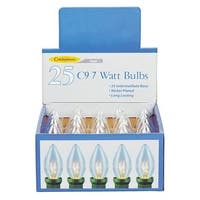 Celebrations UTRT41A1 C9 Clear Replacement Bulbs