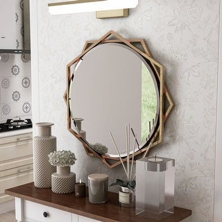 Link to Carson Carrington St Genies Metal Beveled Wall Mirror Similar Items in Home Bars