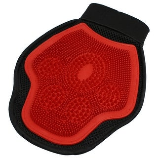 Link to Pet Dog Puppy Massage Bathing Grooming Glove Brush Red Black Similar Items in Dog Grooming