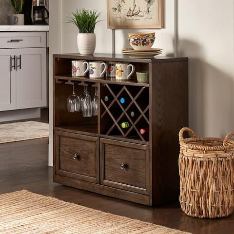 Kai Dark Oak Finish Wood Cabinet by iNSPIRE Q Classic