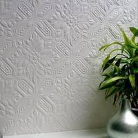 Brewster 437-RD0648 Howard Paintable Supaglypta Wallpaper