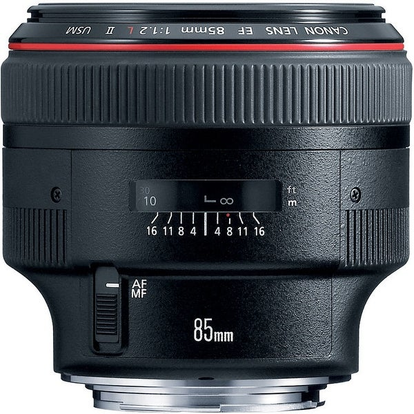 Canon EF 85mm f/1.2L II USM Lens (International Model)