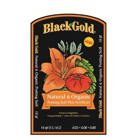 Black Gold Natural & Organic Potting Mix, 16 qt