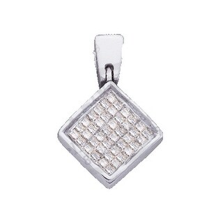 Rhombus Pendant 14K White-gold With Diamonds 0.25 Ctw By MidwestJewellery - N/A