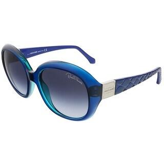 Roberto Cavalli RC786S/S 92W Parliament Blue Oval sunglasses
