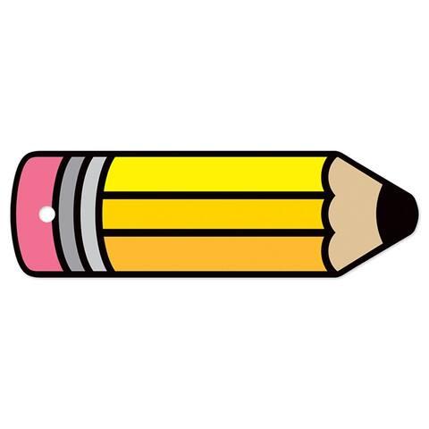 Tnt plastic hall pass blank pencil 10148