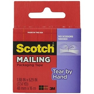 Scotch Tear by Hand Mailing Packaging Tape, 1.87 x 629 in.