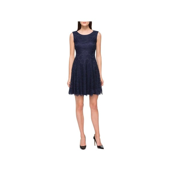 Jessica Simpson Womens Party Dress Fit & Flare Lace