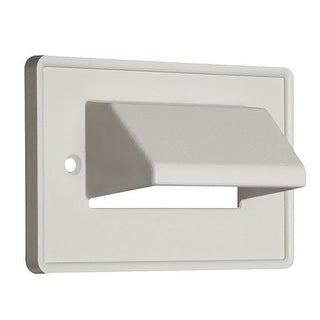 Monoprice Horizontal Reversible 1-Gang Low Voltage Scoop Wallplate White For Home Theater And Cable Management