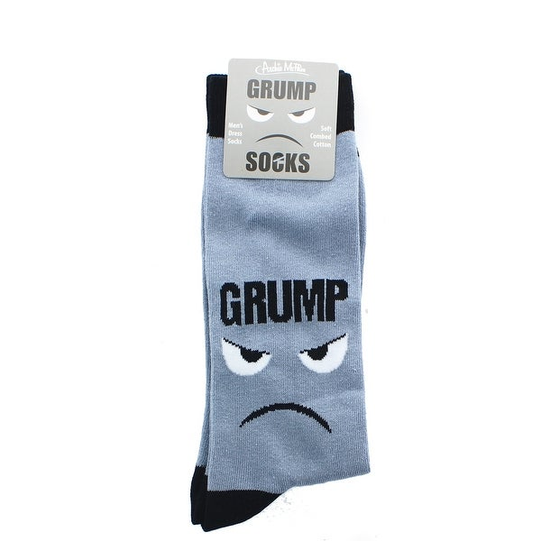 Grumpy Men's Crew Socks - gray