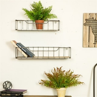 Link to Glitzhome Farmhouse-Pack 2 Wall Shelf Garage Storage Rack Floating Shelves Similar Items in Accent Pieces
