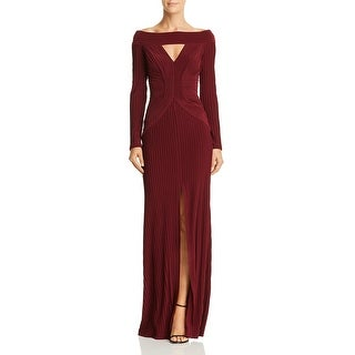 Link to Tadashi Shoji Womens Evening Dress Keyhole Pintuck Similar Items in Dresses