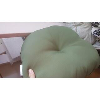 15-inch Round Outdoor Summerside Green Bistro Chair Cushions (Set of 2)