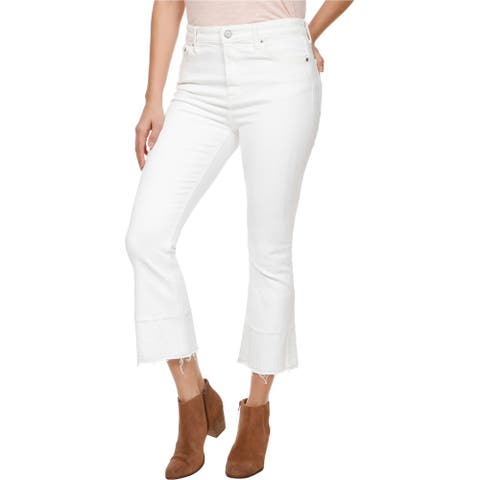 Lucky Brand Womens Bridgette Cropped Jeans, White, 32