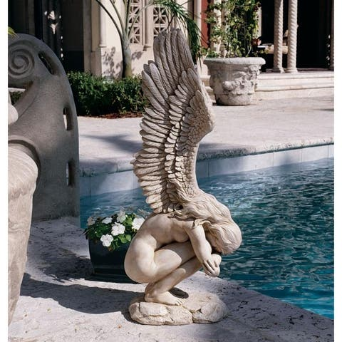 Design Toscano Remembrance and Redemption Angel Sculpture: Medium