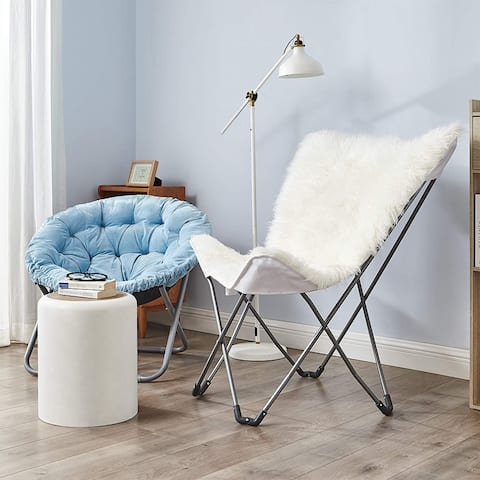 Oversized Butterfly Chair - Mega Furry Plush