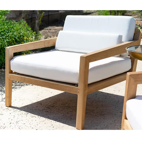 Palmilla Teak Outdoor Lounge Chair and a Half