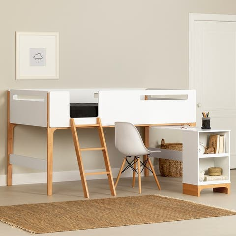 South Shore Bebble Loft Bed with Desk