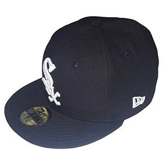New Era Mens 2017 MLB Game Authentic On Field 59Fifty Cap Chicago White Sox - Black