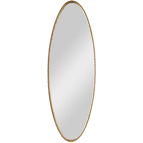 """Uttermost 09402 Hadea 68-1/4"""" x 23-1/4"""" Oval Beveled Iron Framed Wall Mounted Full Length Mirror - Gold"""