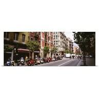 Poster Print entitled Street Scene Barcelona Spain
