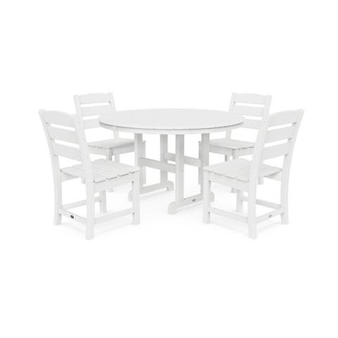 POLYWOOD Lakeside 5-Piece Side Chair Dining Set