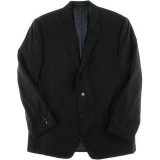 Calvin Klein Mens Slim Fit Lined Two-Button Blazer - 42R